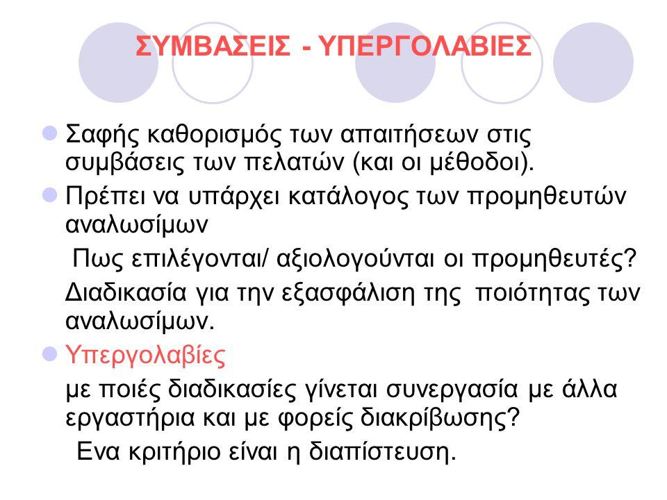 ΣΥΜΒΑΣΕΙΣ - ΥΠΕΡΓΟΛΑΒΙΕΣ