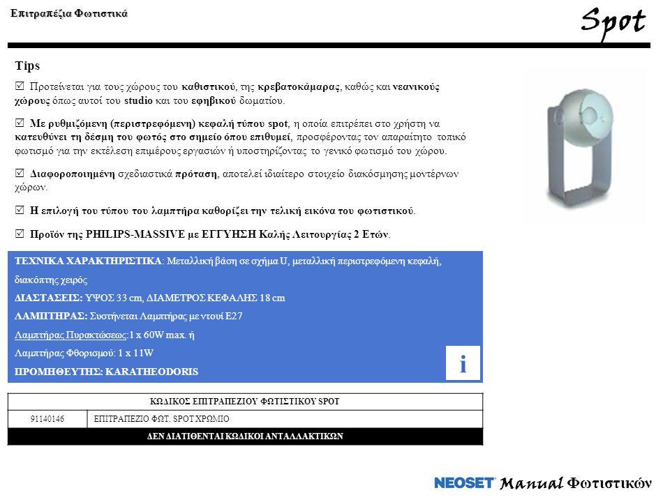 Spot i Manual Φωτιστικών Tips Επιτραπέζια Φωτιστικά
