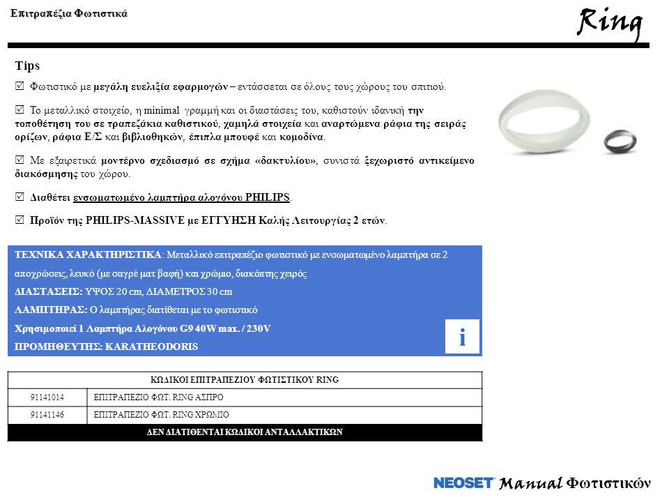 Ring i Manual Φωτιστικών Tips Επιτραπέζια Φωτιστικά