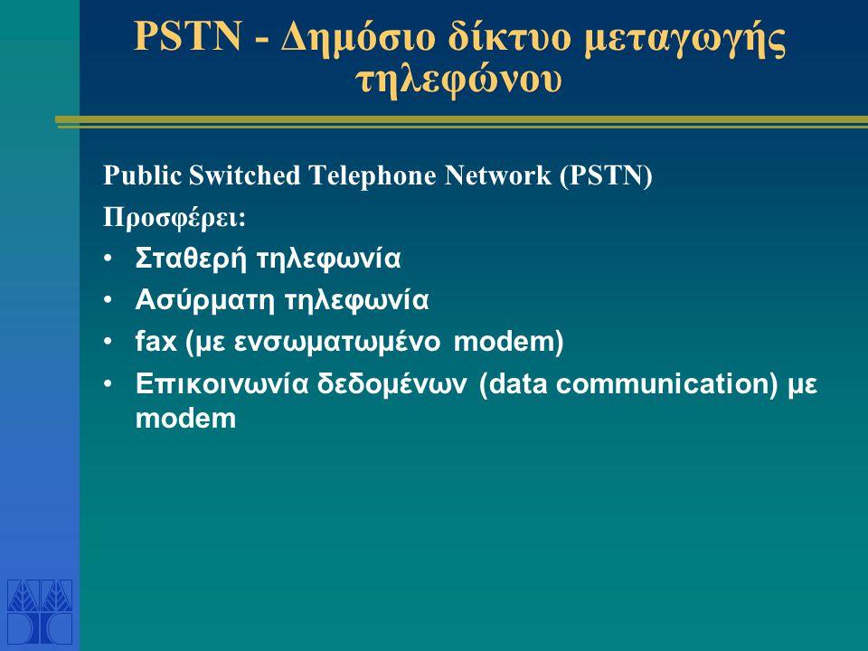 PSTN - Δημόσιο δίκτυο μεταγωγής τηλεφώνου