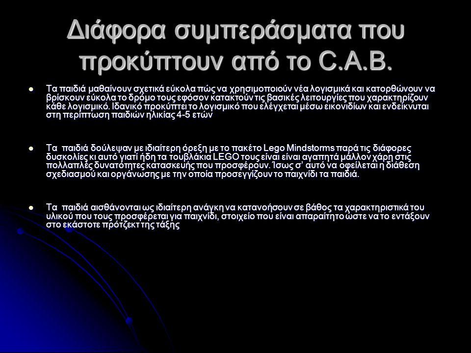 Διάφορα συμπεράσματα που προκύπτουν από το C.A.B.