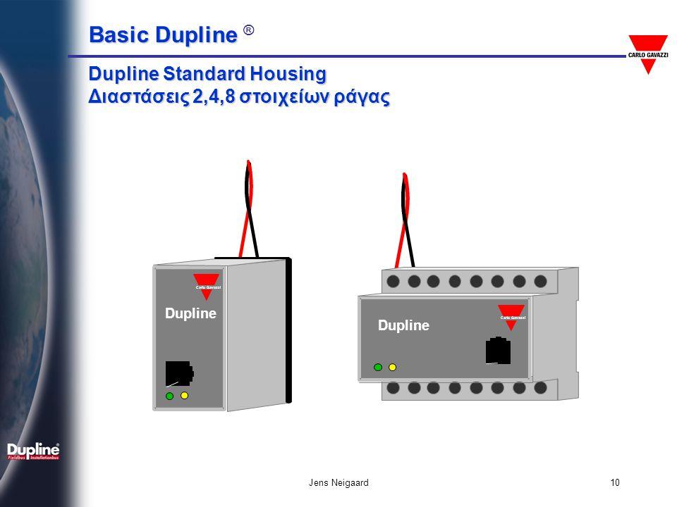 Dupline Standard Housing Διαστάσεις 2,4,8 στοιχείων ράγας