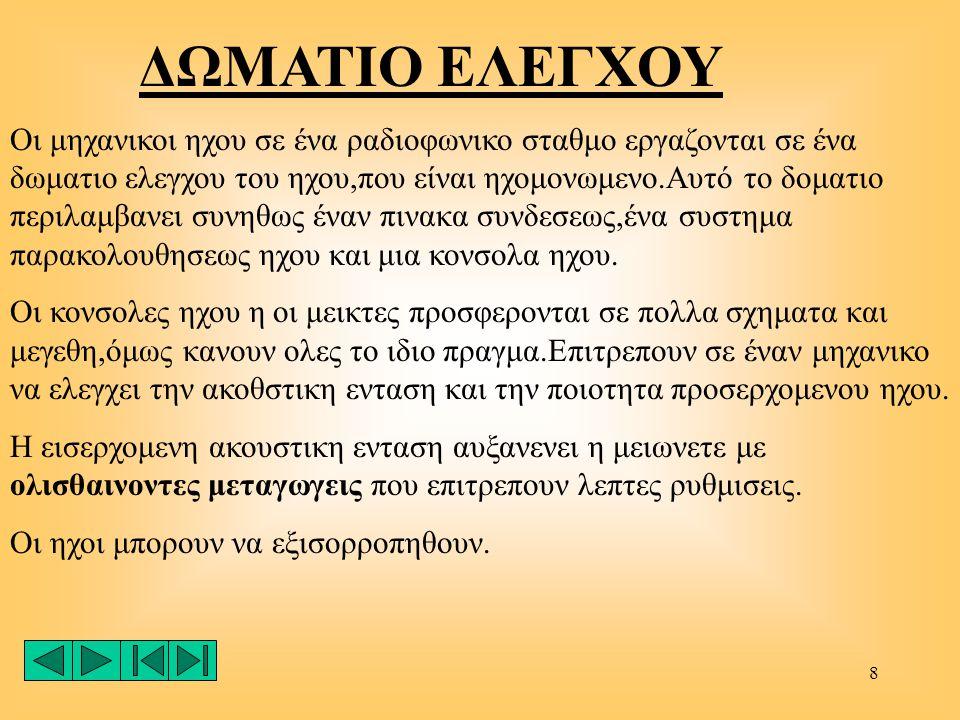 ΔΩΜΑΤΙΟ ΕΛΕΓΧΟΥ