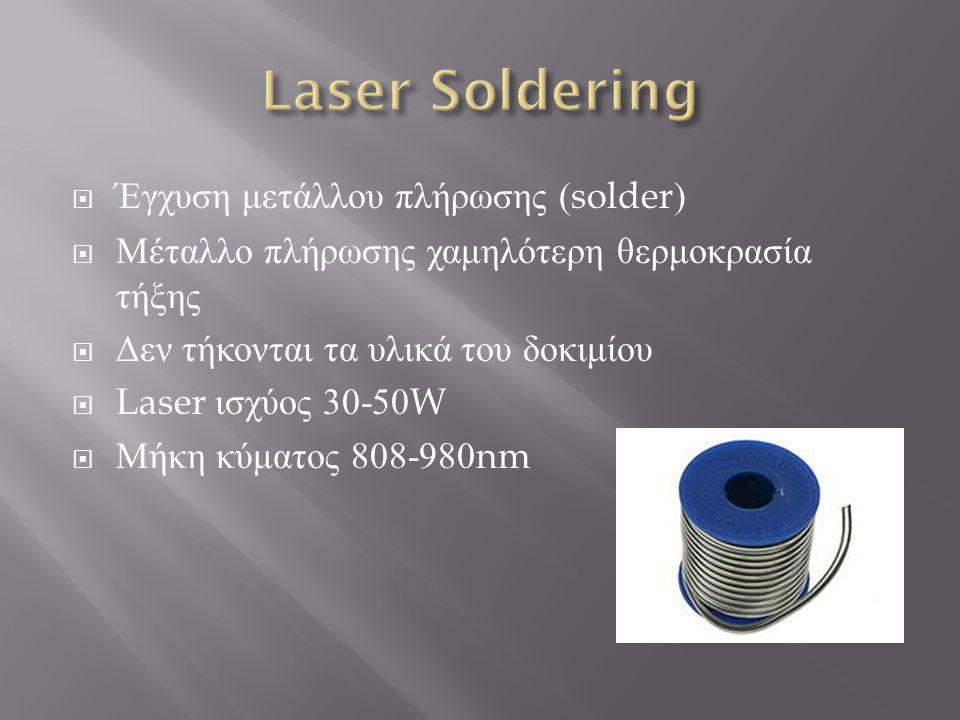 Laser Soldering Έγχυση μετάλλου πλήρωσης (solder)