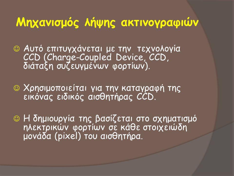 Μηχανισμός λήψης ακτινογραφιών