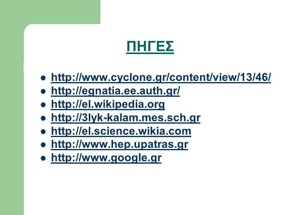 ΠΗΓΕΣ http://www.cyclone.gr/content/view/13/46/