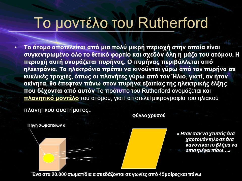 Τo μοντέλο του Rutherford