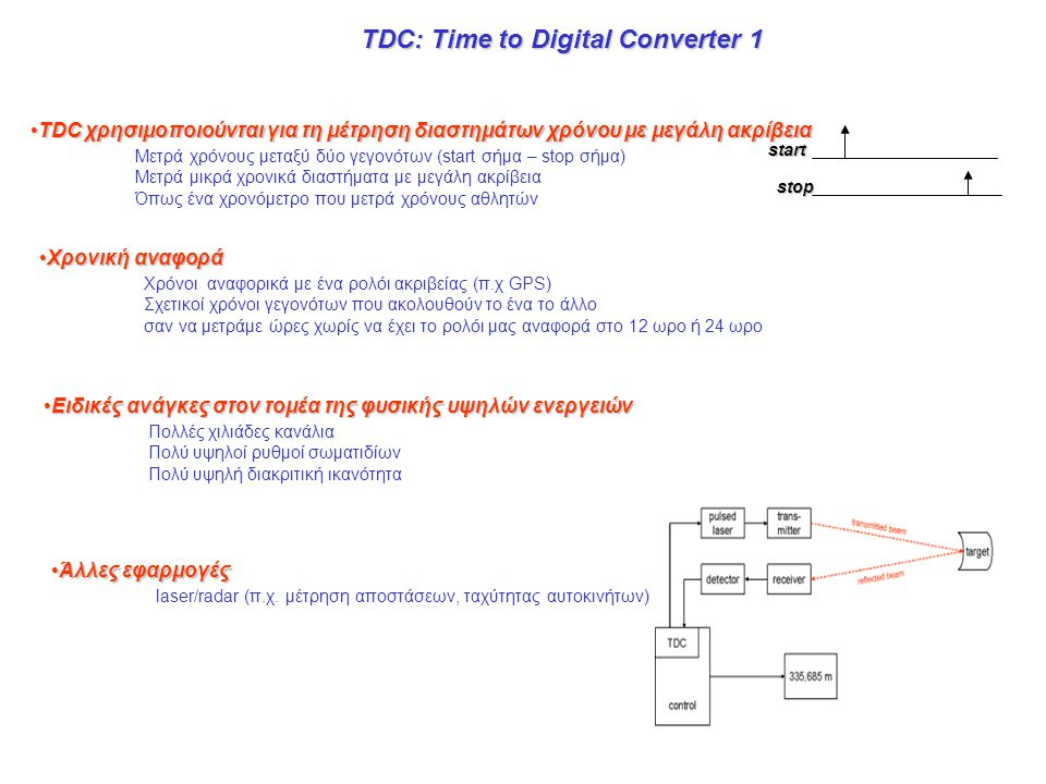 TDC: Time to Digital Converter 1