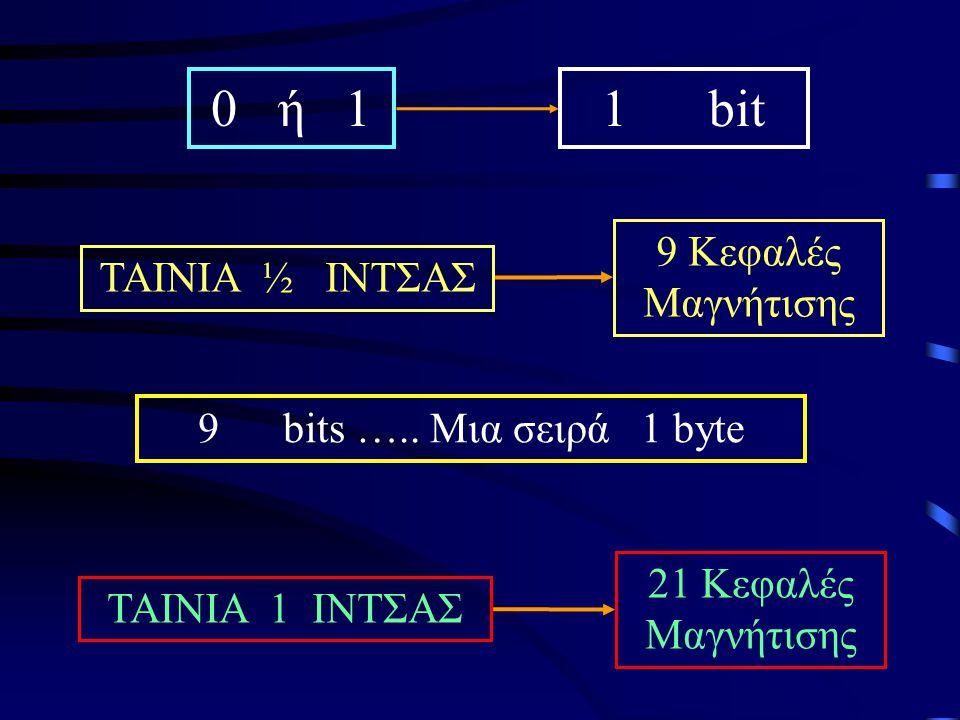 0 ή 1 1 bit 9 Κεφαλές Μαγνήτισης TAINIA ½ ΙΝΤΣΑΣ
