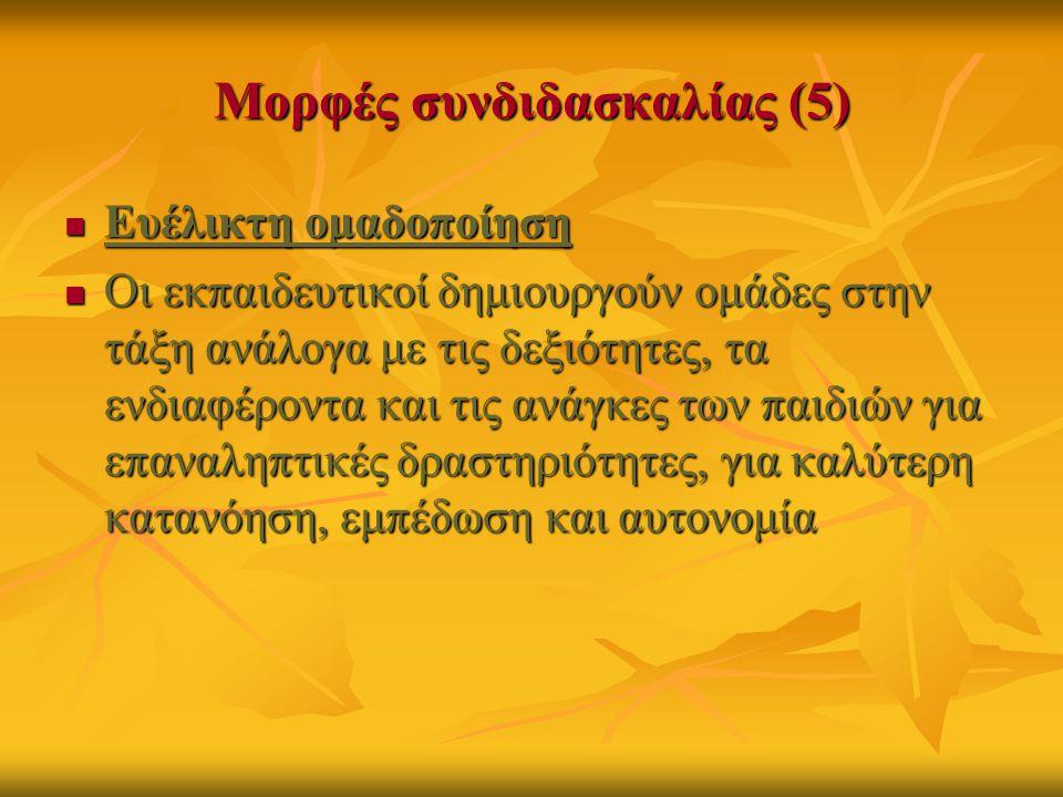 Μορφές συνδιδασκαλίας (5)