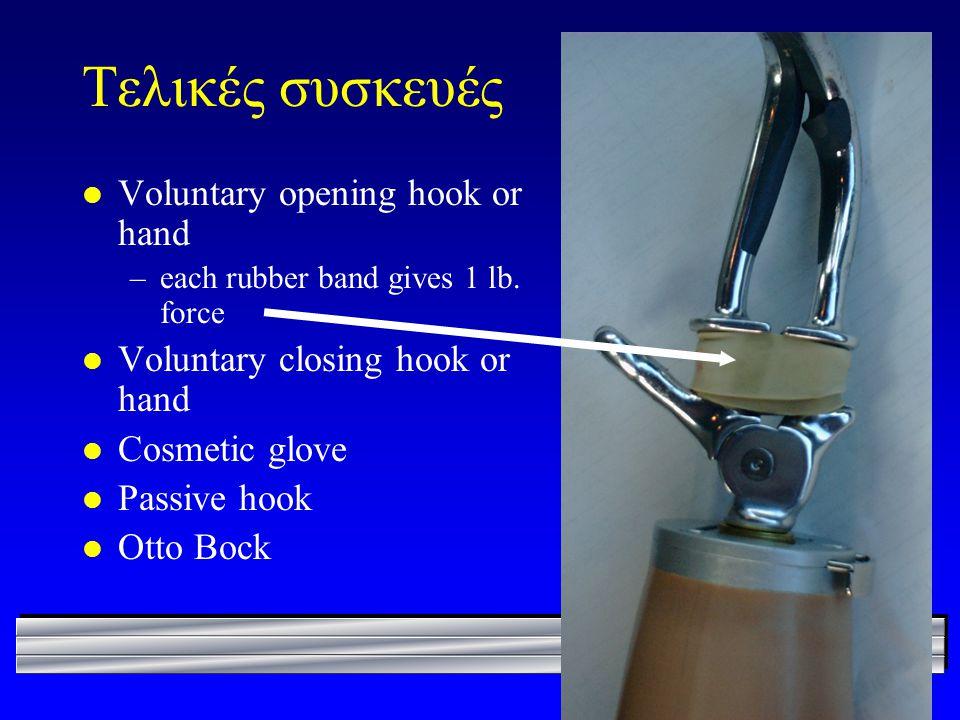 Τελικές συσκευές Voluntary opening hook or hand