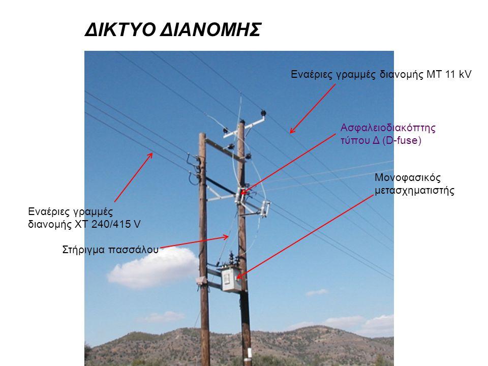 ΔΙΚΤΥΟ ΔΙΑΝΟΜΗΣ Εναέριες γραμμές διανομής ΜΤ 11 kV