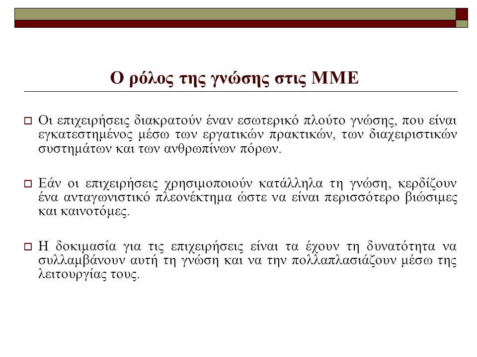 Ο ρόλος της γνώσης στις ΜΜΕ