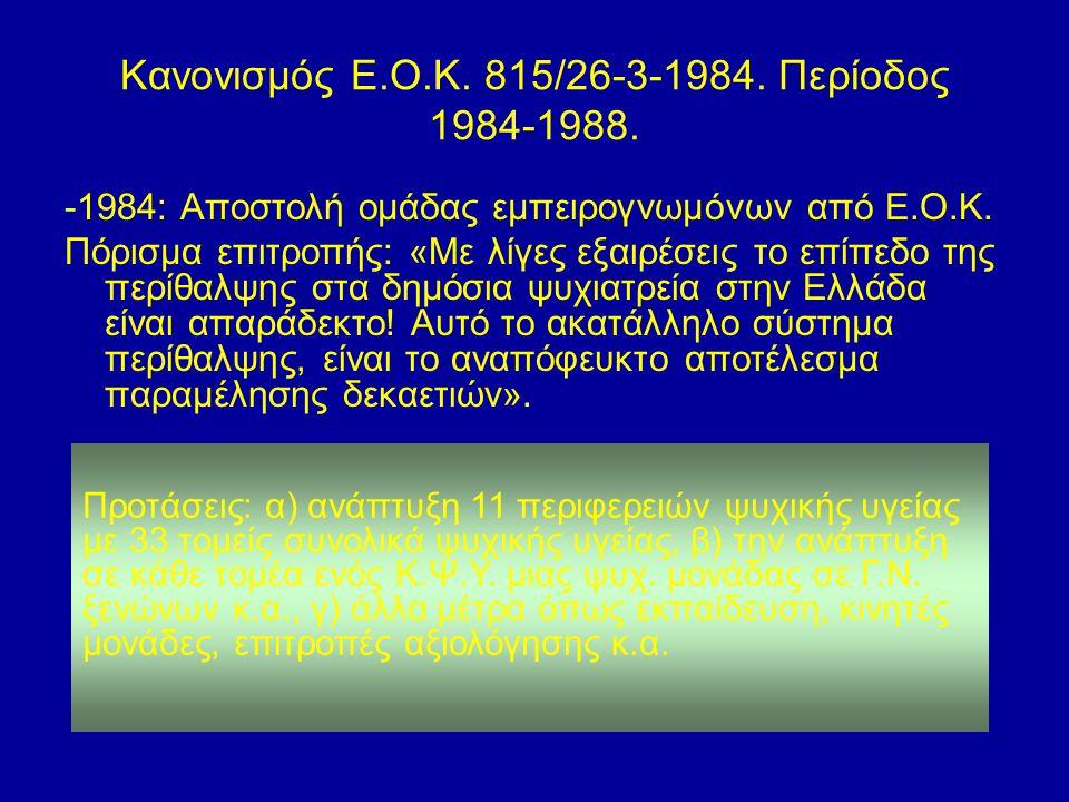 Κανονισμός Ε.Ο.Κ. 815/26-3-1984. Περίοδος 1984-1988.