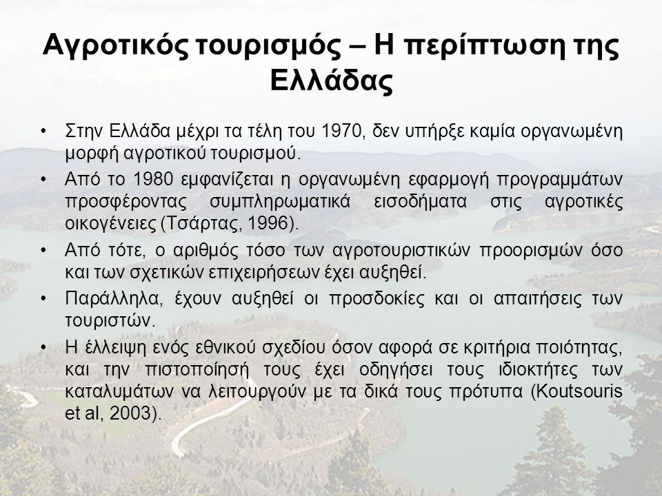 Αγροτικός τουρισμός – Η περίπτωση της Ελλάδας