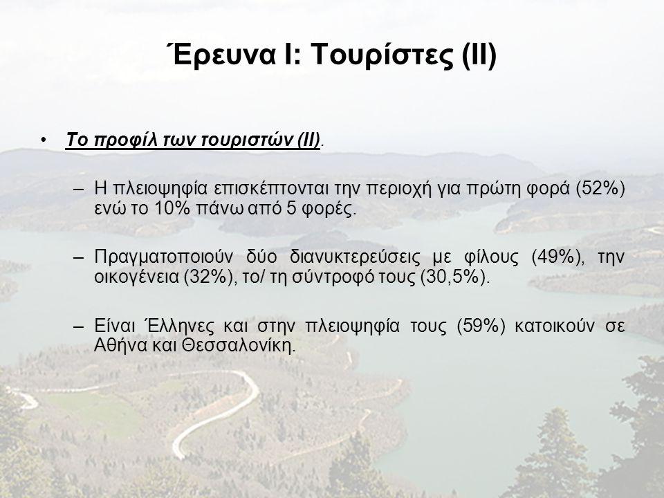 Έρευνα I: Τουρίστες (II)