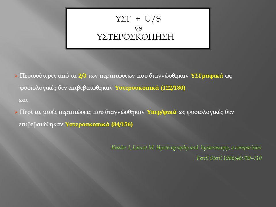 ΥΣΓ + U/S vs ΥΣΤΕΡΟΣΚΟΠΗΣΗ 2