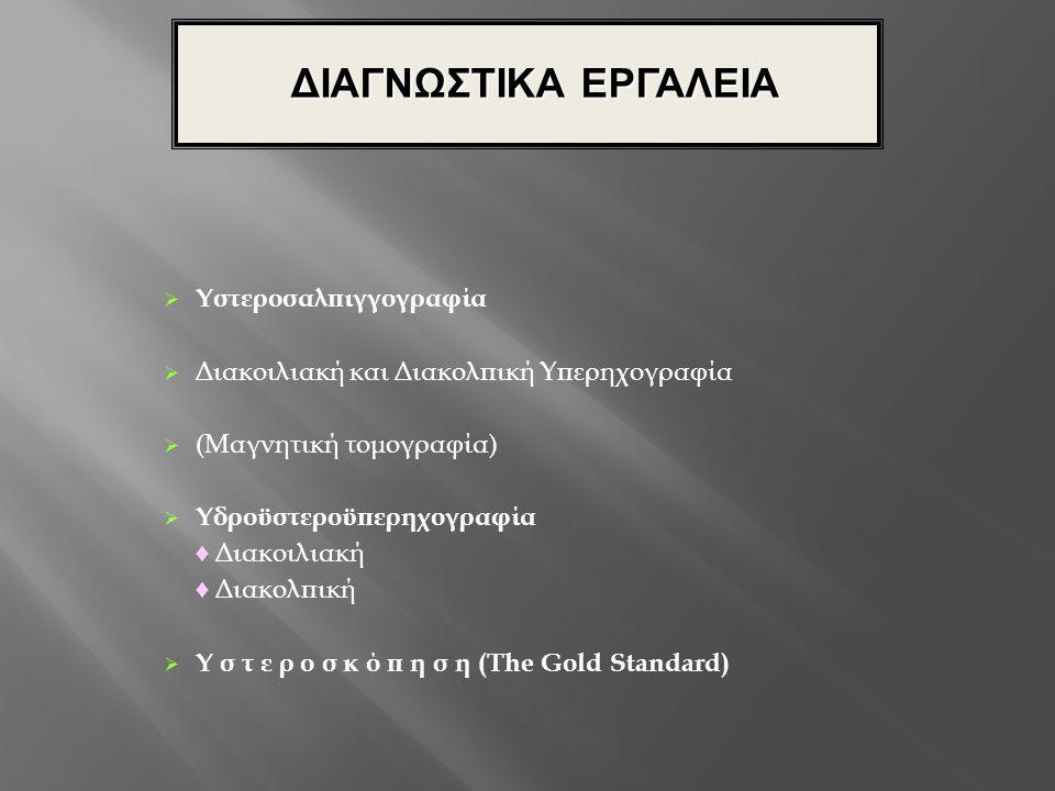 ΔΙΑΓΝΩΣΤΙΚΑ ΕΡΓΑΛΕΙΑ Υστεροσαλπιγγογραφία