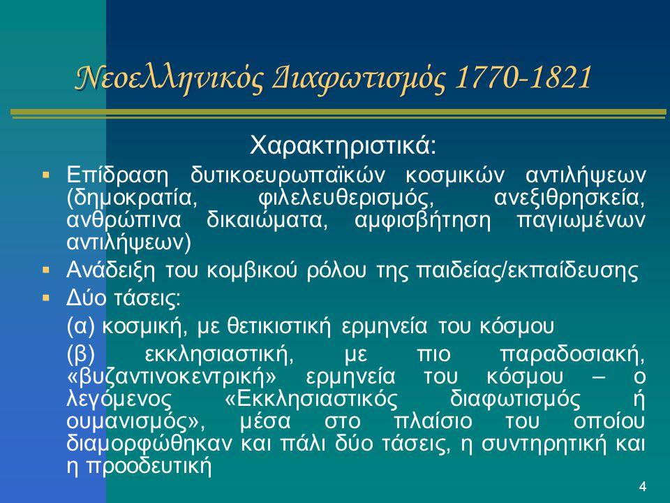 Νεοελληνικός Διαφωτισμός 1770-1821
