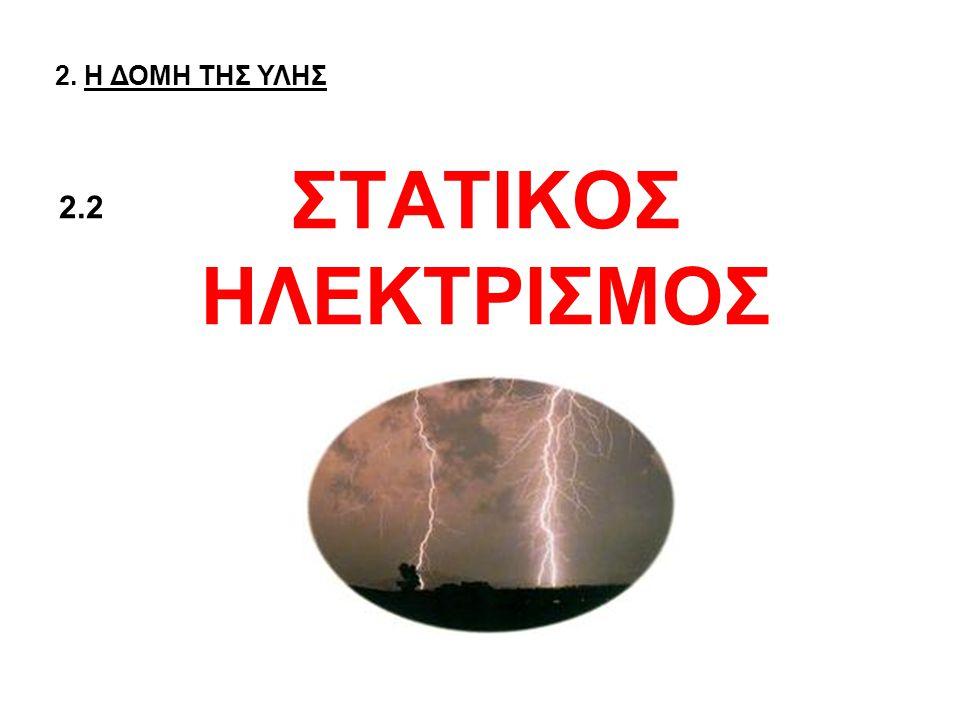 2. Η ΔΟΜΗ ΤΗΣ ΥΛΗΣ ΣΤΑΤΙΚΟΣ ΗΛΕΚΤΡΙΣΜΟΣ 2.2