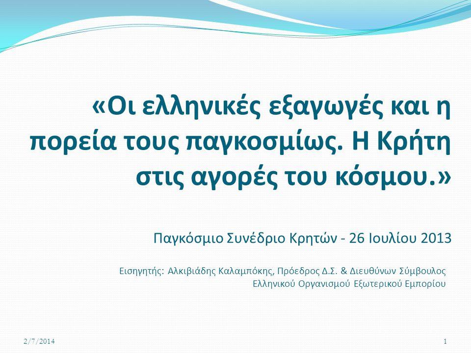 «Οι ελληνικές εξαγωγές και η πορεία τους παγκοσμίως