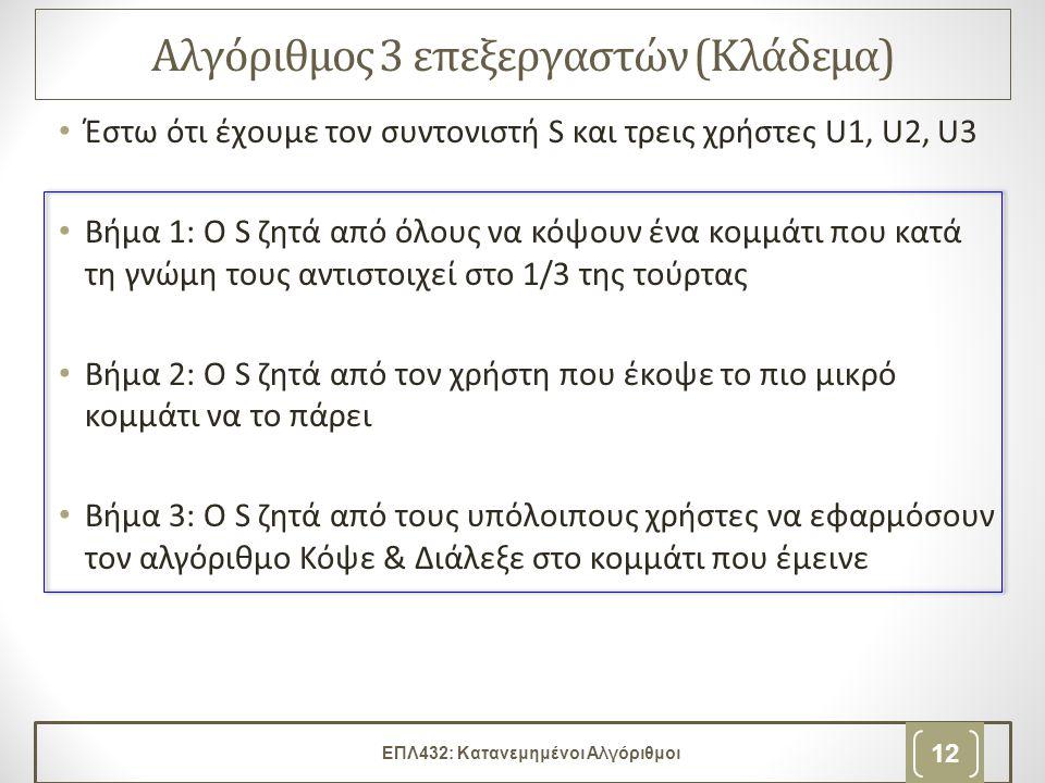 ΕΠΛ432: Κατανεμημένοι Αλγόριθμοι