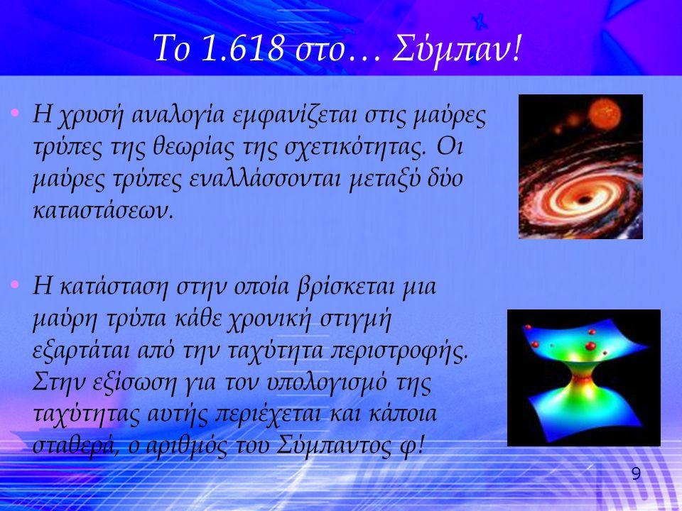 Το 1.618 στο… Σύμπαν!