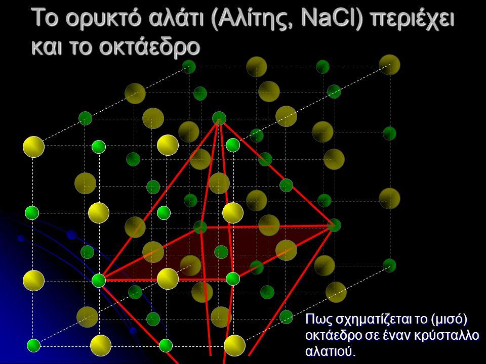 Το ορυκτό αλάτι (Αλίτης, NaCl) περιέχει και το οκτάεδρο