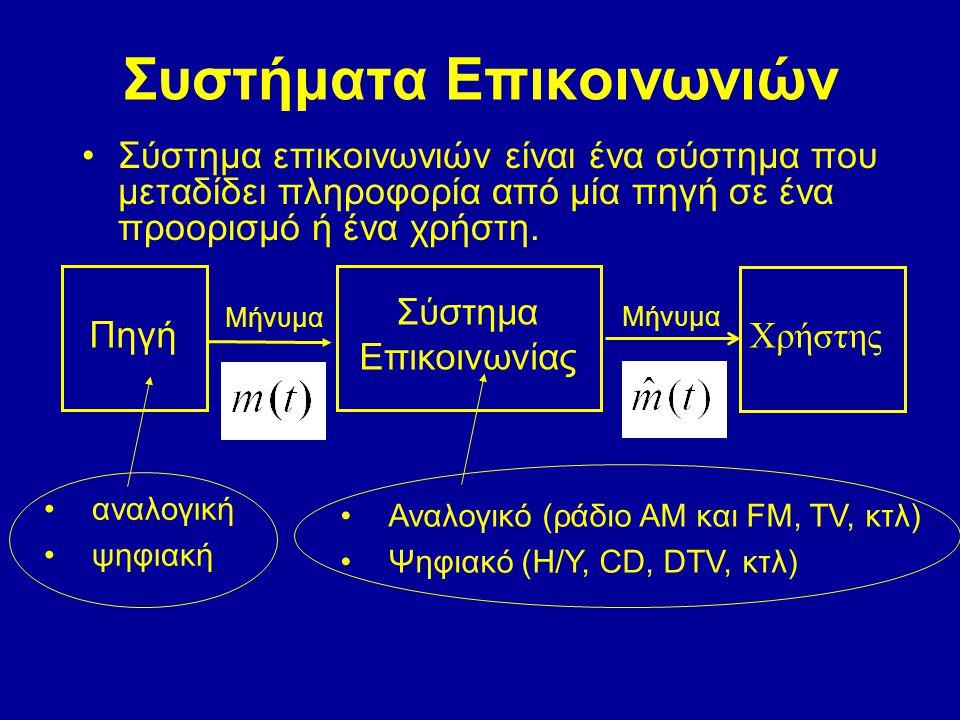 Συστήματα Επικοινωνιών
