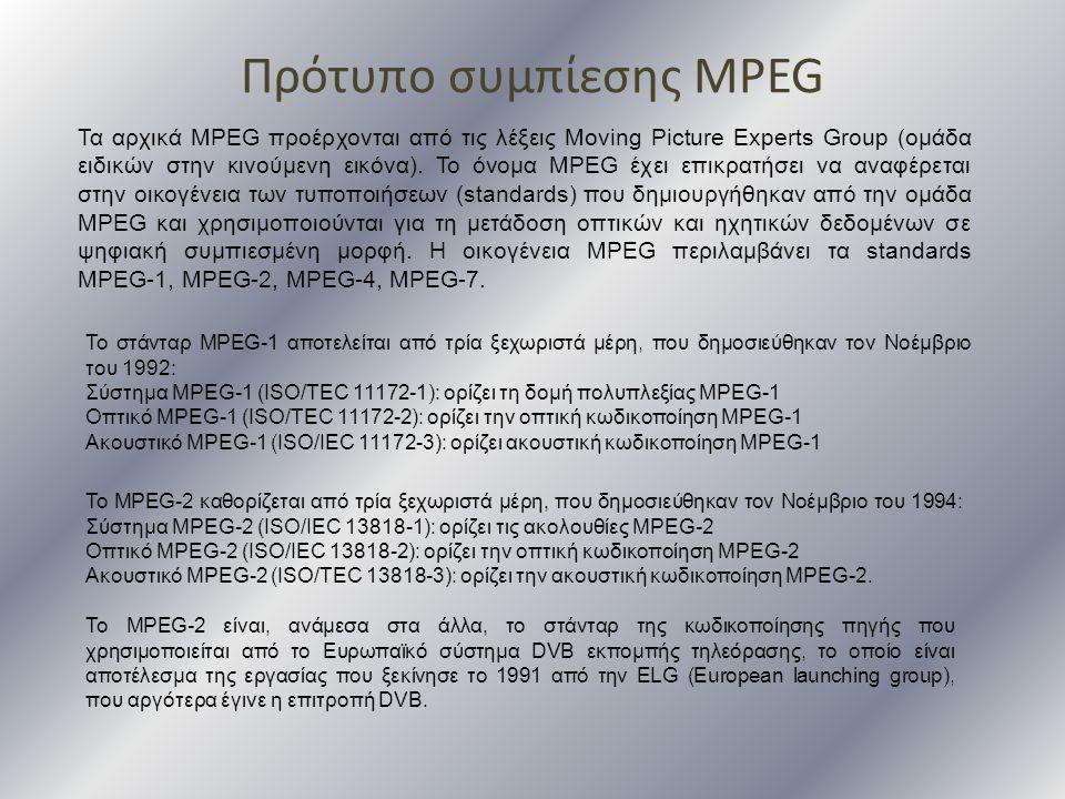 Πρότυπο συμπίεσης MPEG
