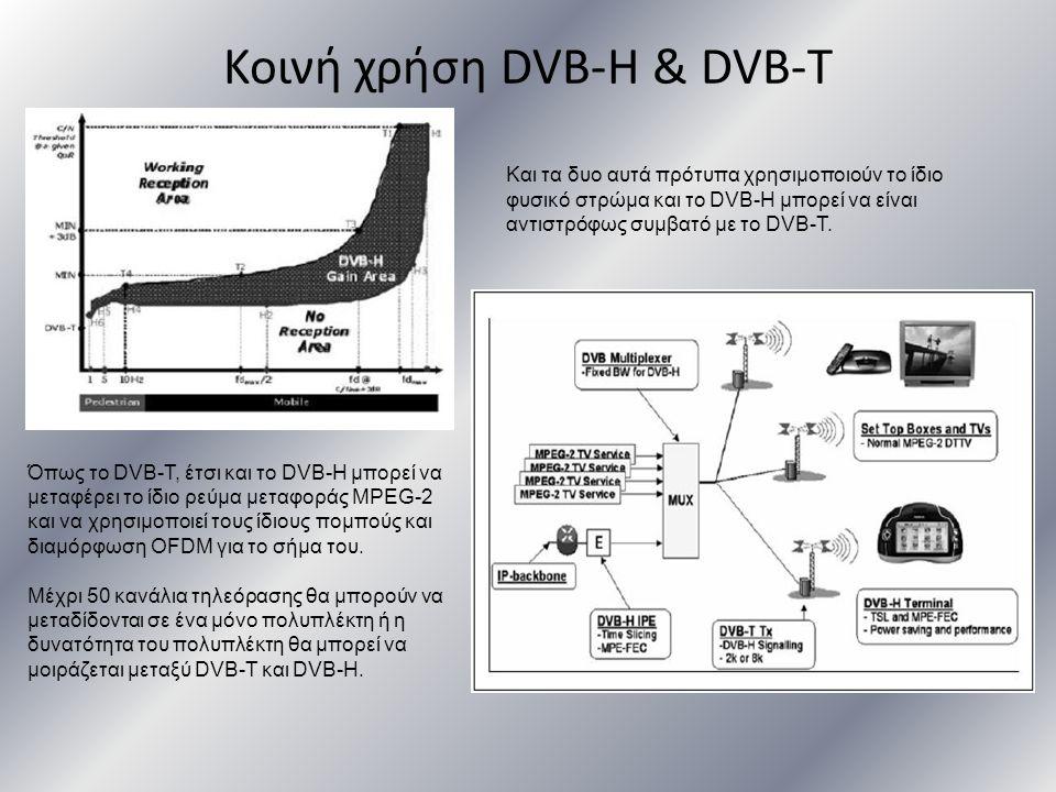 Κοινή χρήση DVB-H & DVB-T