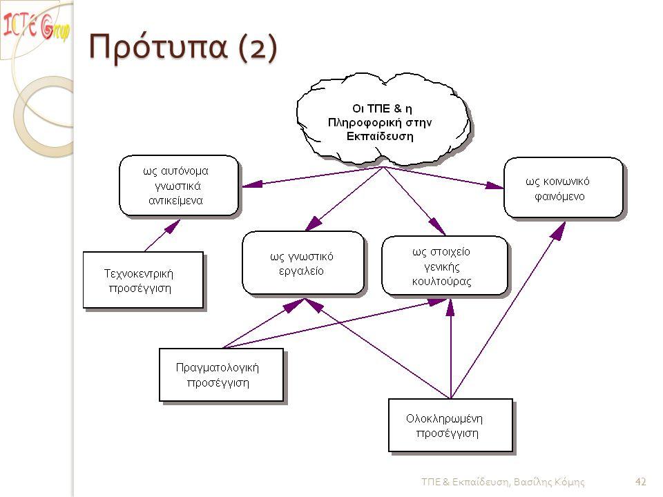 Πρότυπα (2) ΤΠΕ & Εκπαίδευση, Βασίλης Κόμης