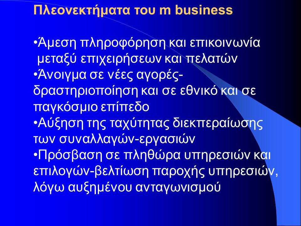 Πλεονεκτήματα του m business