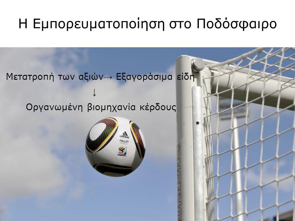 Η Εμπορευματοποίηση στο Ποδόσφαιρο