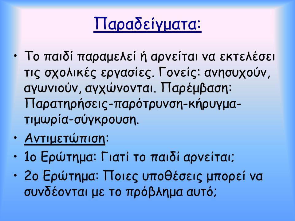 Παραδείγματα: