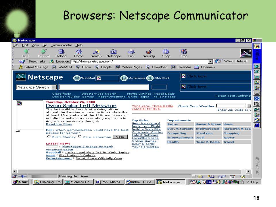 Browsers: Netscape Communicator