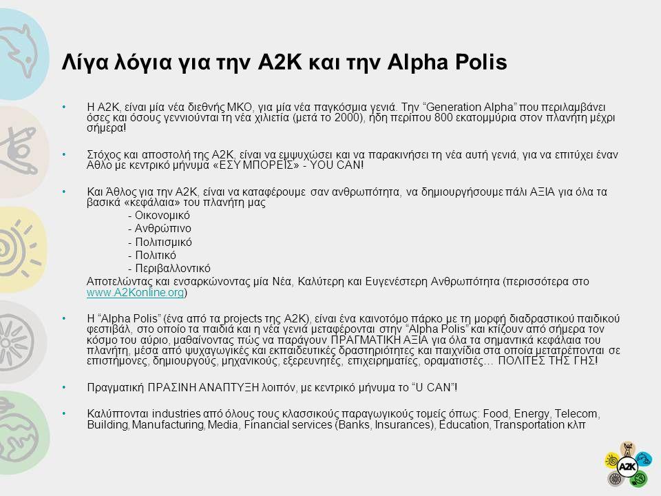 Λίγα λόγια για την Α2Κ και την Alpha Polis