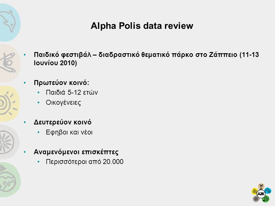 Alpha Polis data review