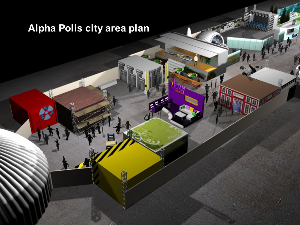 Alpha Polis city area plan