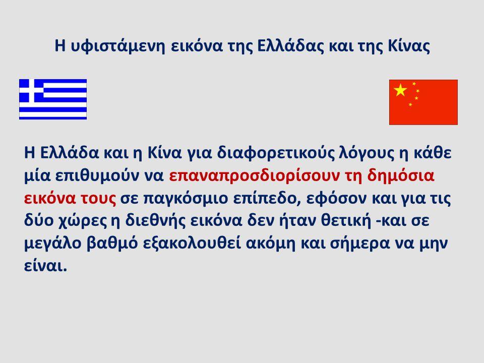 Η υφιστάμενη εικόνα της Ελλάδας και της Κίνας