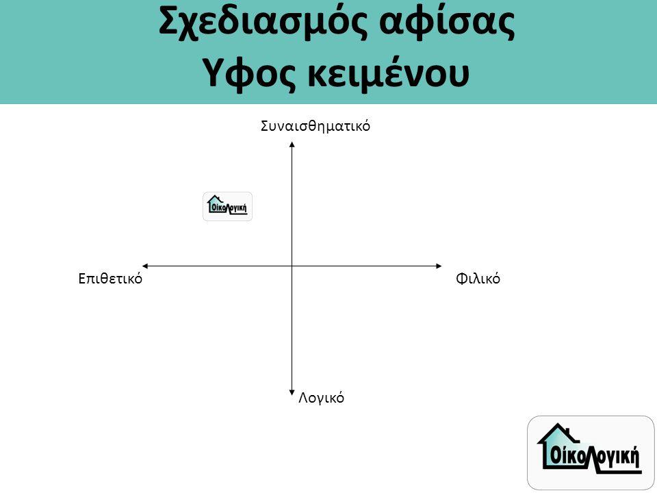 Σχεδιασμός αφίσας Υφος κειμένου