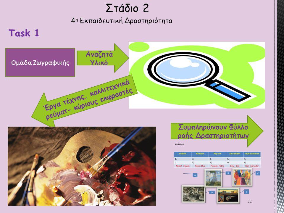 Στάδιο 2 Task 1 4η Εκπαιδευτική Δραστηριότητα Αναζητά Υλικό