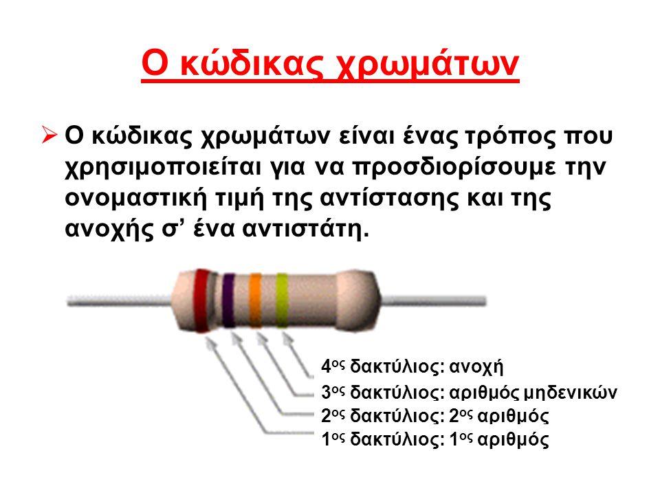 Ο κώδικας χρωμάτων