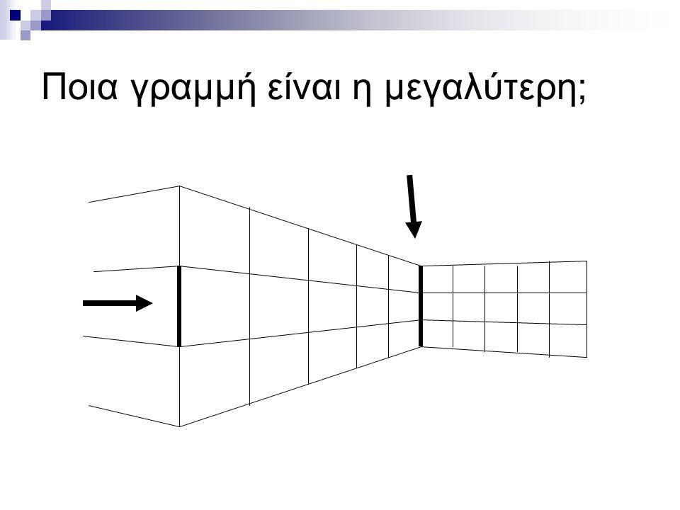 Ποια γραμμή είναι η μεγαλύτερη;