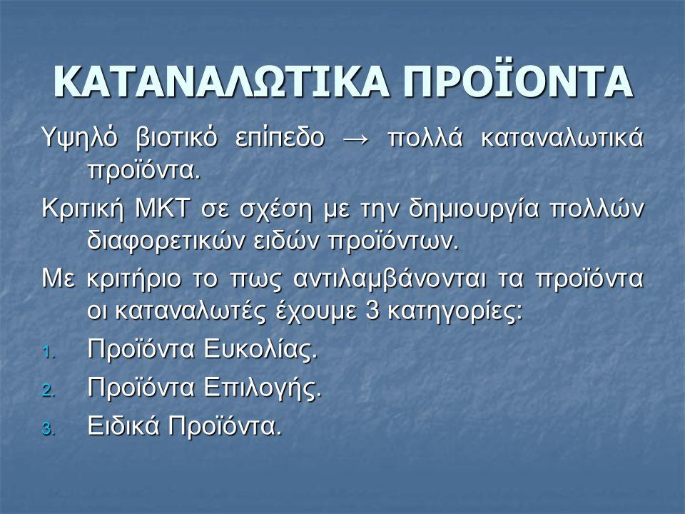 ΚΑΤΑΝΑΛΩΤΙΚΑ ΠΡΟΪΟΝΤΑ