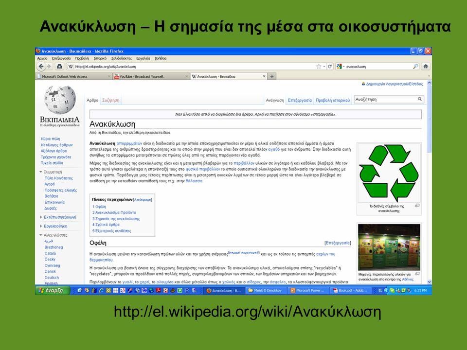 Ανακύκλωση – Η σημασία της μέσα στα οικοσυστήματα