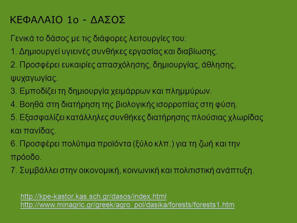 ΚΕΦΑΛΑΙΟ 1ο - ΔΑΣΟΣ