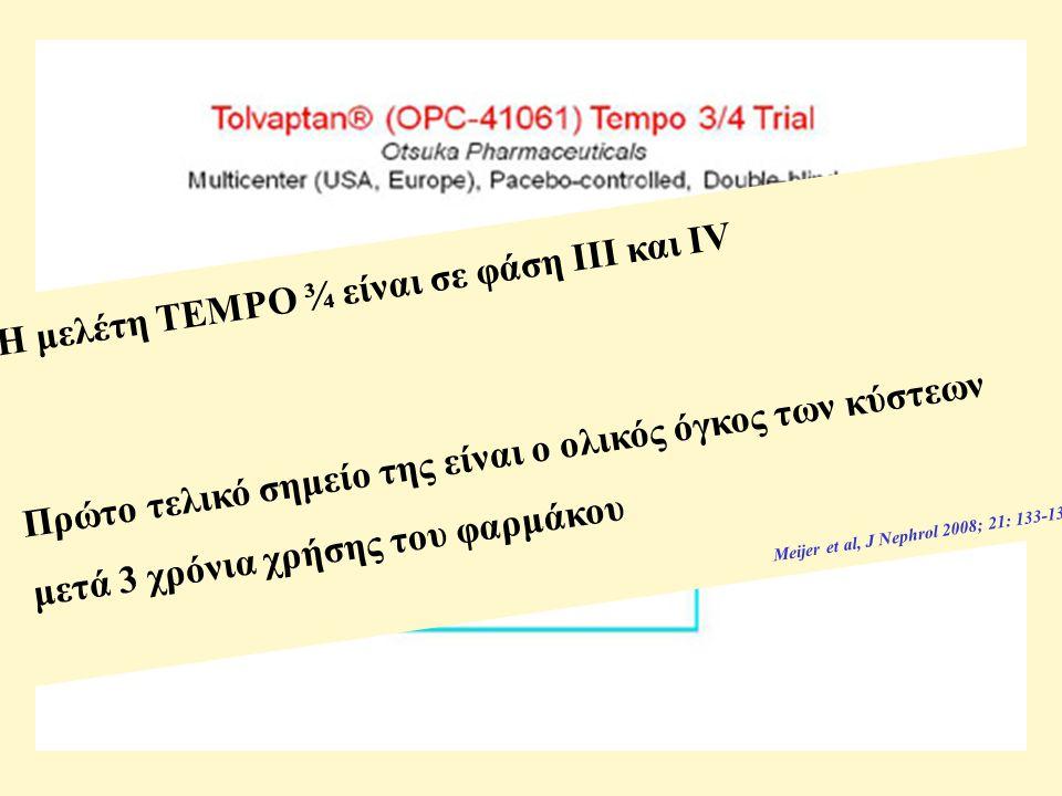 Η μελέτη TEMPO ¾ είναι σε φάση ΙΙΙ και IV