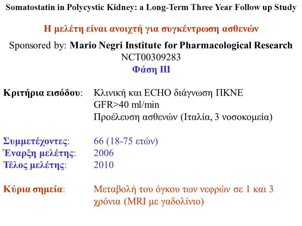 Η μελέτη είναι ανοιχτή για συγκέντρωση ασθενών