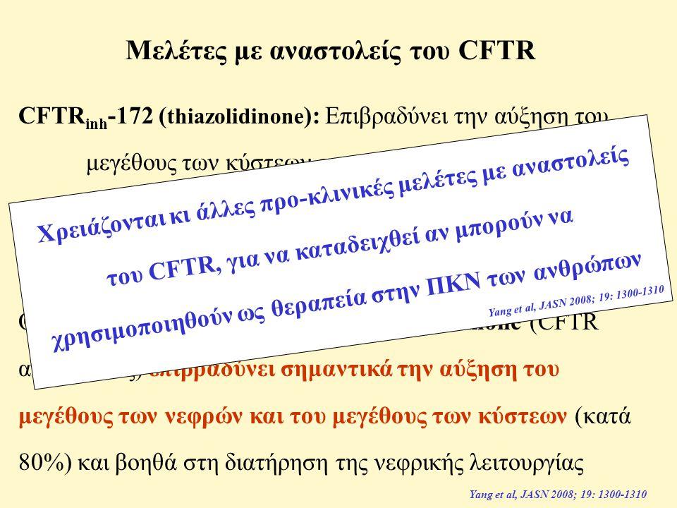 Μελέτες με αναστολείς του CFTR